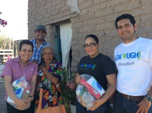 Providing food support in Mexico. (Courtesy: Elanco)