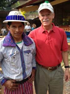 Rick Peyser (right) with a coffee farmer in Huehuetenango, Guatemala in August, 2014. Courtesy: LWR