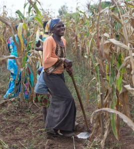Mary Makkazi on her maize farm. Courtesy: Opportunity Int'l