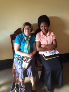 USDA's Anne Bartholomew with Masasi District Nutritionist, Victoria (Courtesy: USDA)